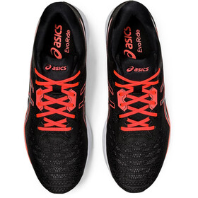 asics Evoride Tokyo Schuhe Herren black/sunrise red
